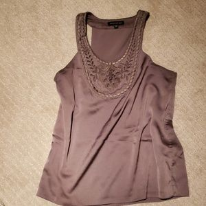 Banana republic tan top with cutout details (3/$30
